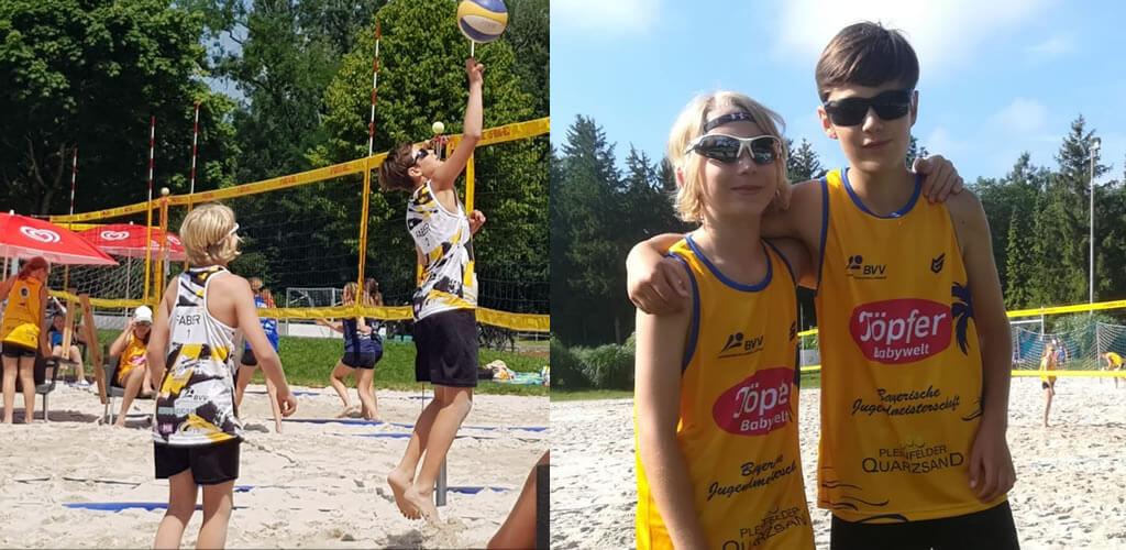 U13 auf bayerischer Beachvolleyballmeisterschaft
